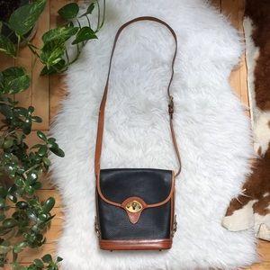Dooney & Bourke Vintage Black Brown Crossbody Bag